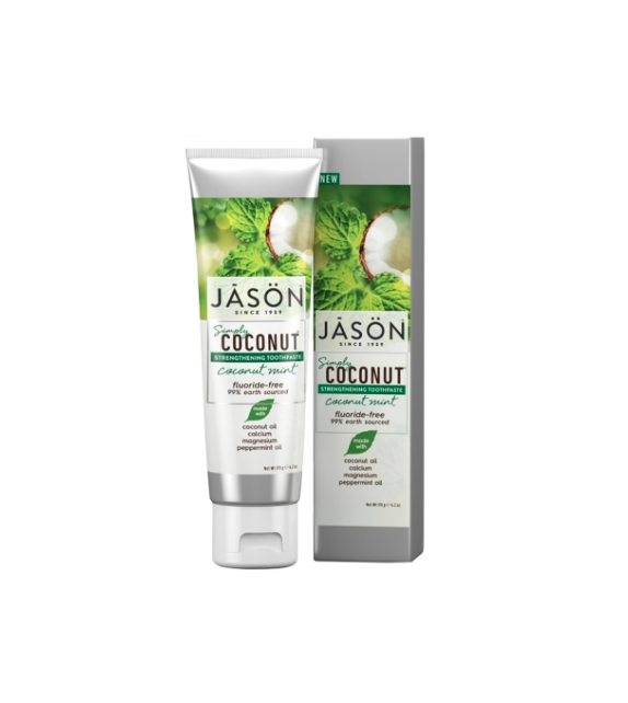 JĀSÖN Simply Coconut Strengthening Dentífrico Fortificante Coco Menta 119g