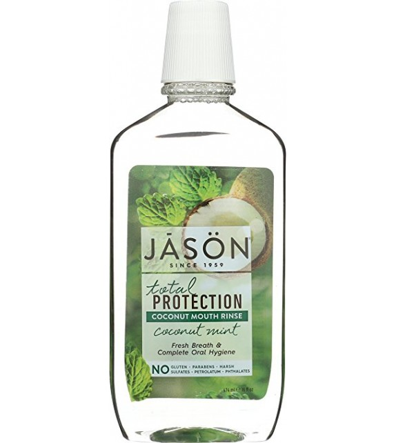 JĀSÖN Simply Coconut Total Protection Enjuague Bucal Coco Menta 474ml