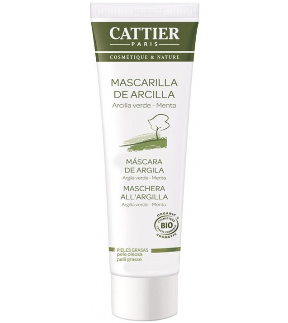 CATTIER Mascarilla Facial Arcilla Verde Bio 100ml